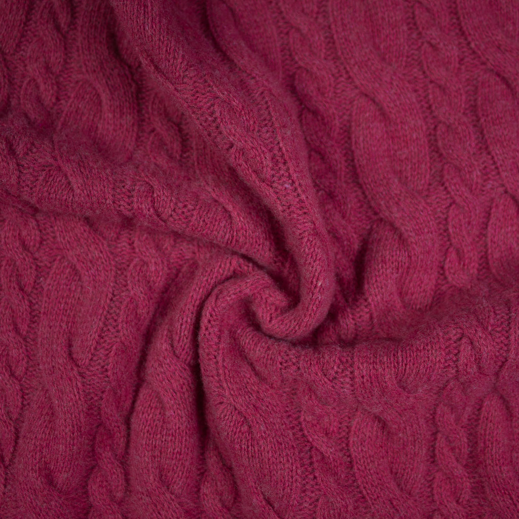 Jaclin Fuchsia Knitted Wool