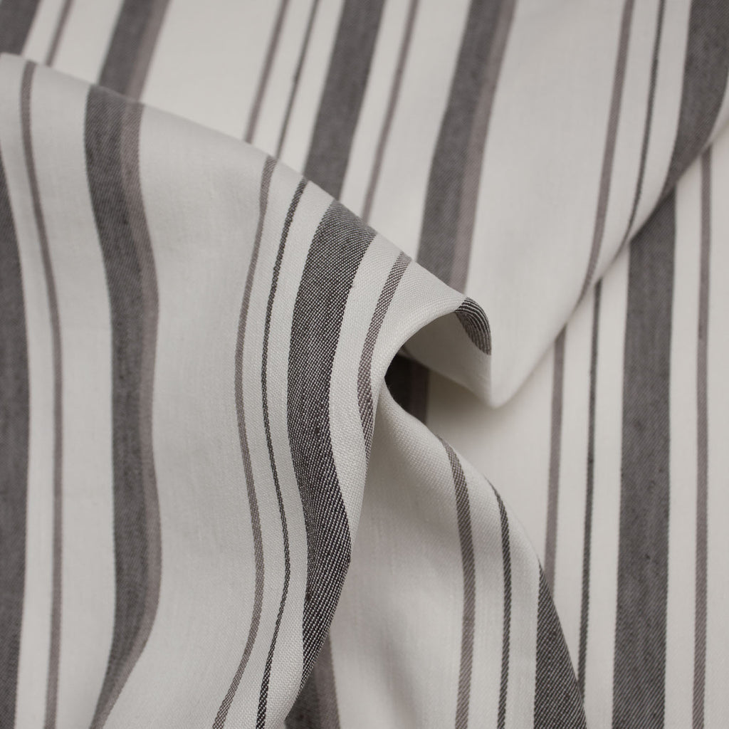 Daniel Ecru & Brown Striped Linen Blend Stretch