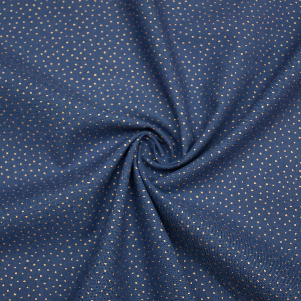 Margo Gold Speckled Blue Cotton