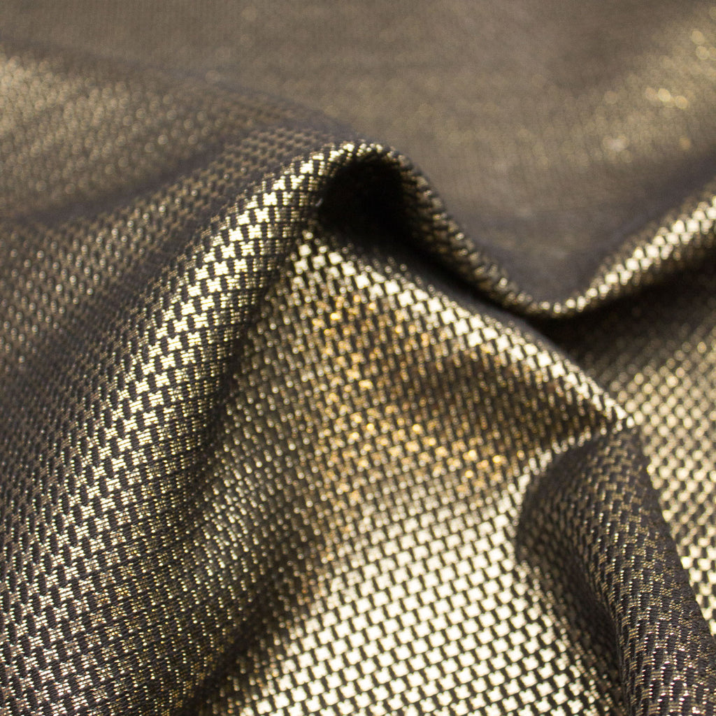 Elton Black & Gold Cotton Blend Jacquard