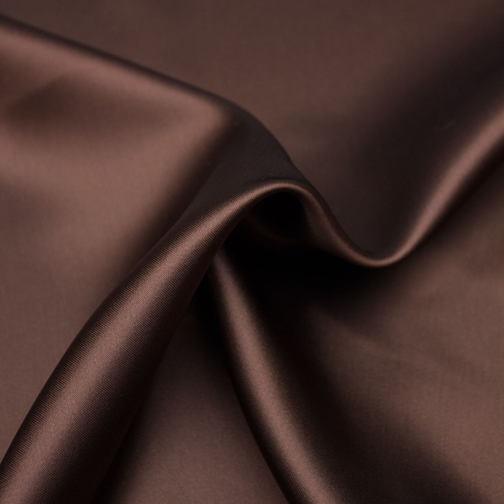Siam Marron Brown Acetate Lining Satin