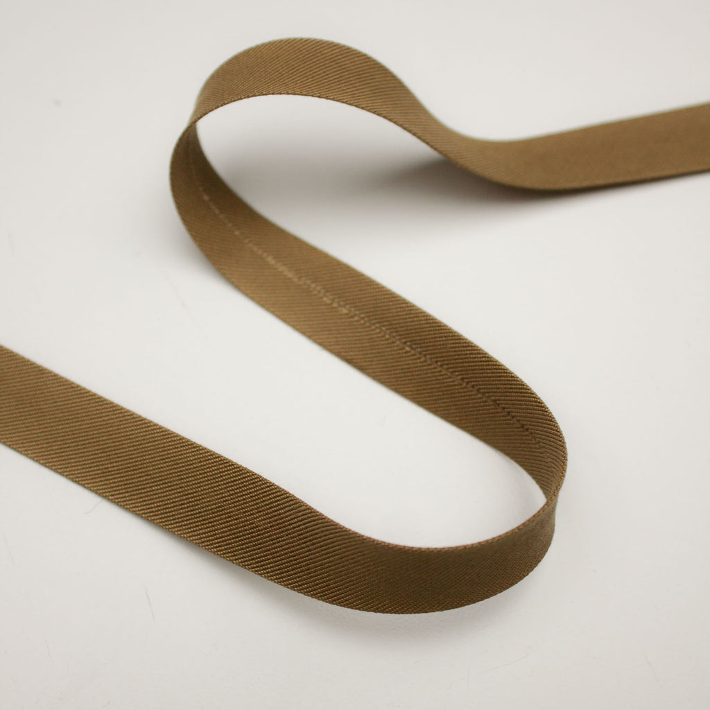 Brown Cotton Bias Twill Tape 15mm