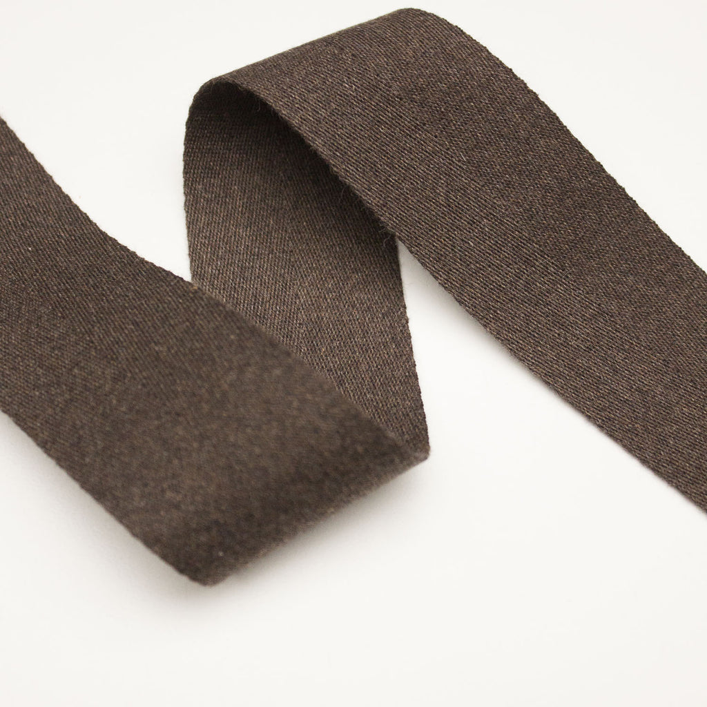Brown Cotton Ribbon 40mm