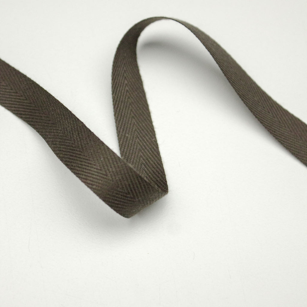 Brown Taupe Cotton Twill Tape 12mm