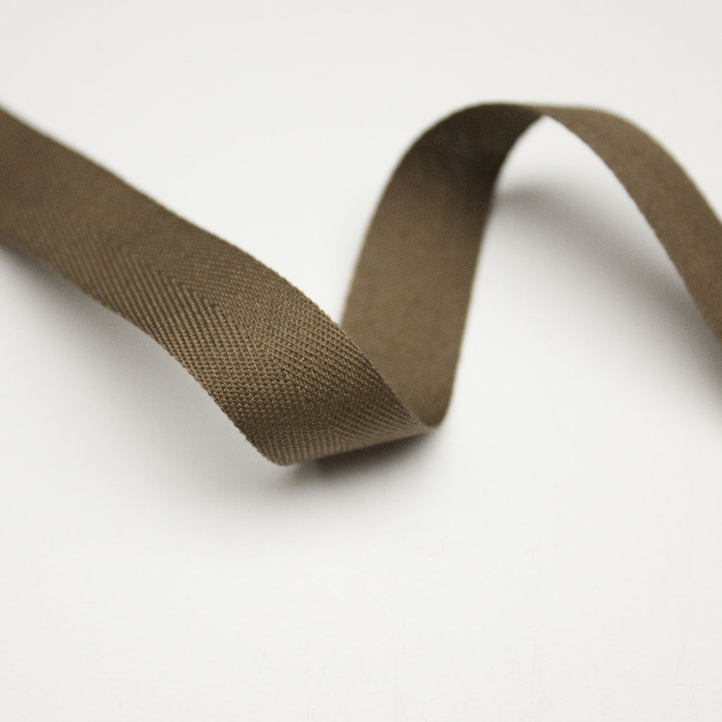 Brown Cotton Twill Tape 15mm