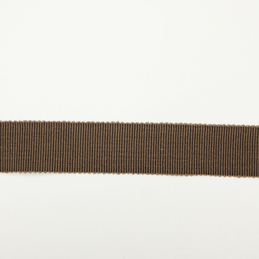 Brown Cotton Grosgrain Ribbon 25mm