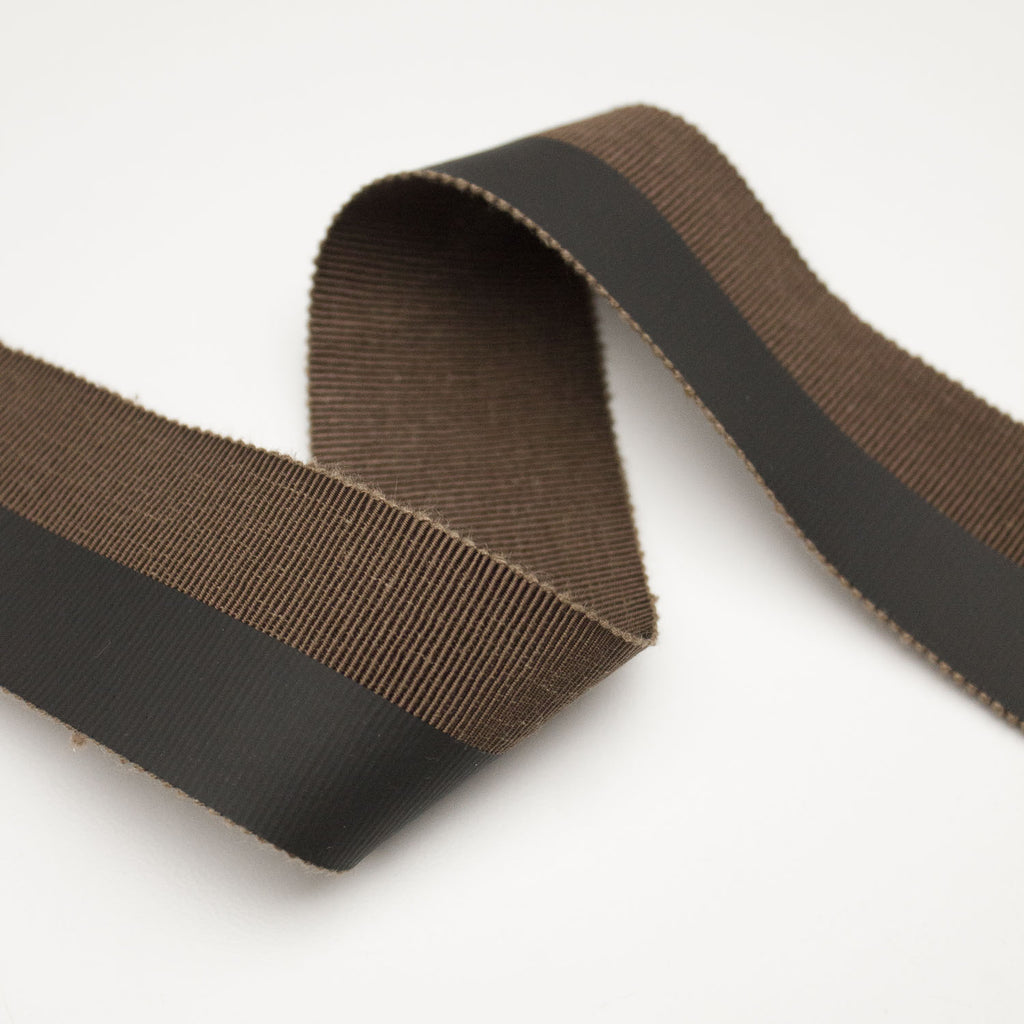 Brown Grosgrain Ribbon Coated 40mm