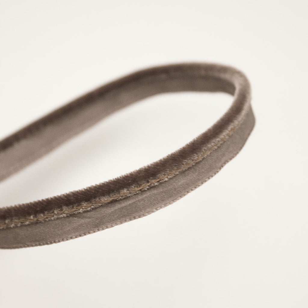 Brown Velvet Piping Trim 10mm