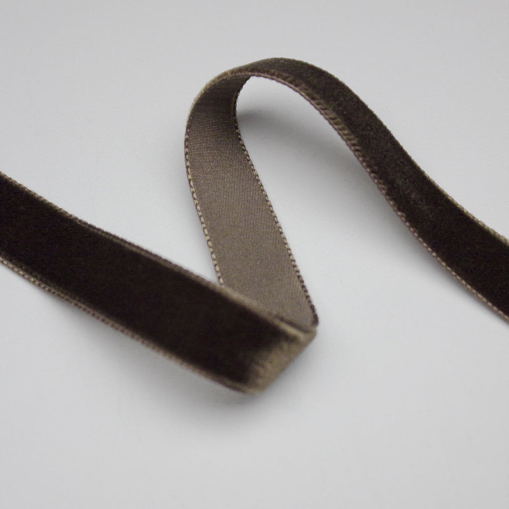 Brown Velvet Ribbon 16mm