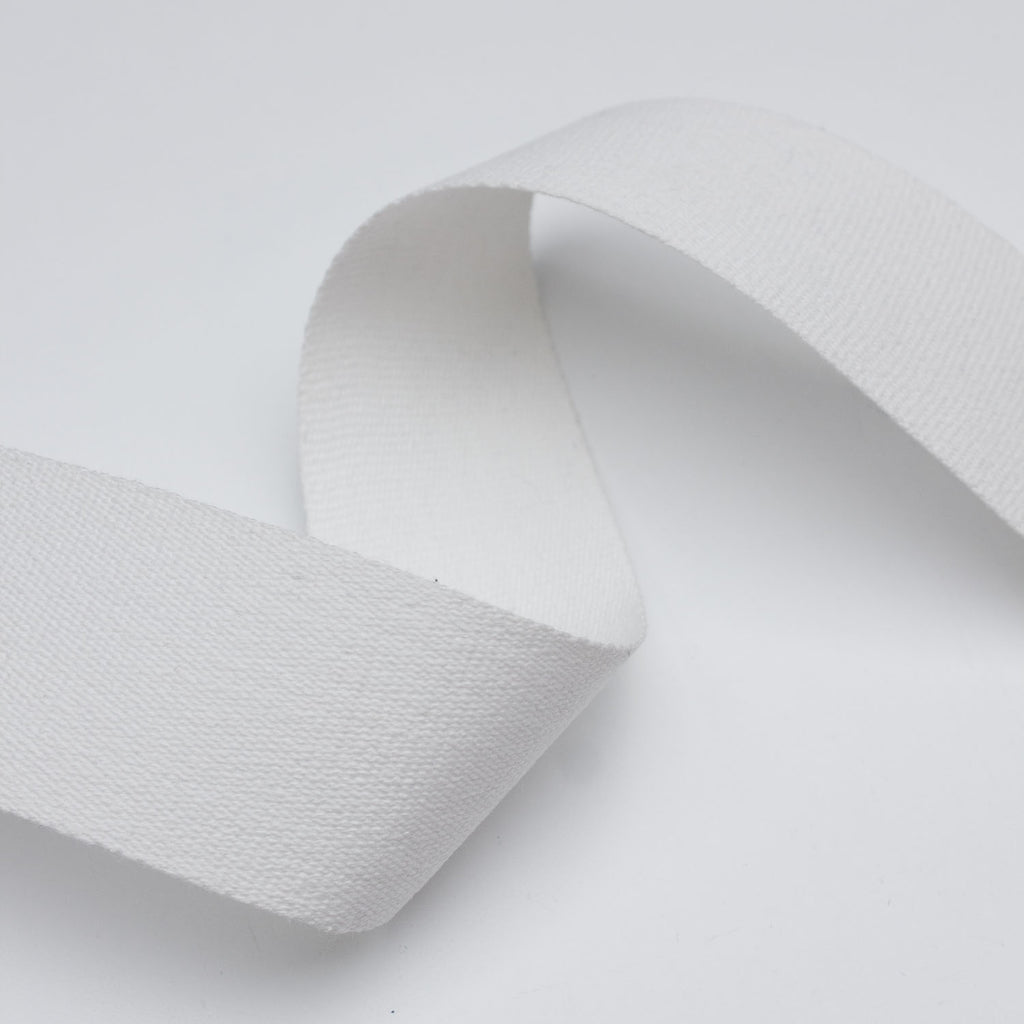 White Cotton Webbing Tape 50mm