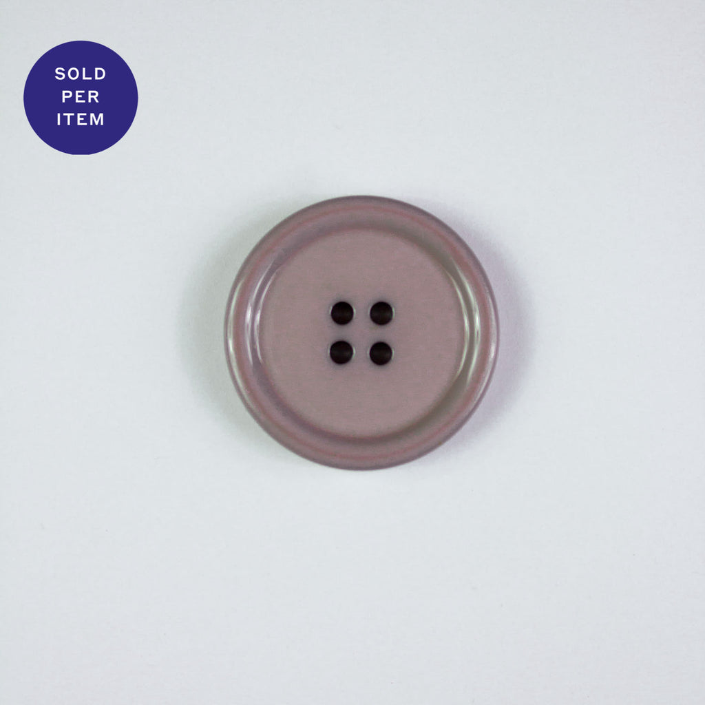 June Lilac 4-Hole Plastic Button Glossy