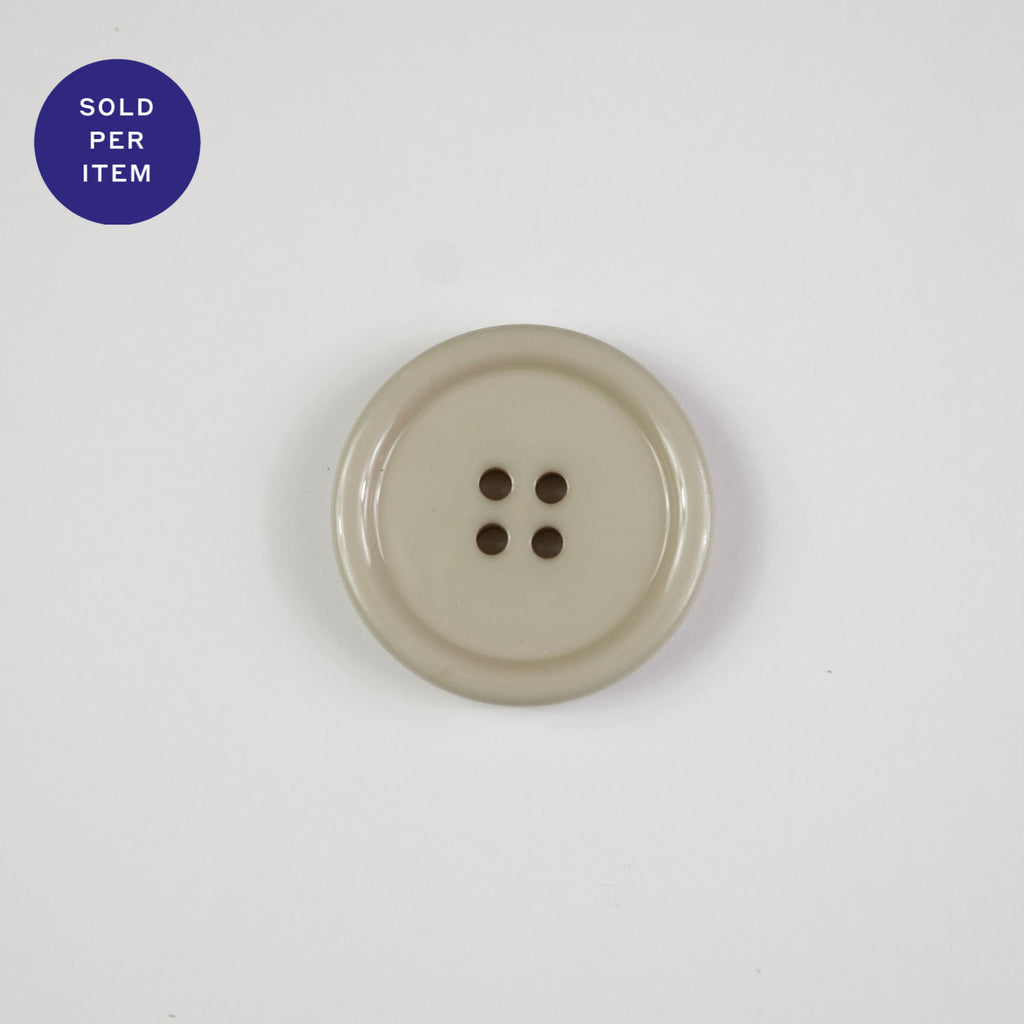 Sofia Cream 4-Hole Plastic Button Glossy