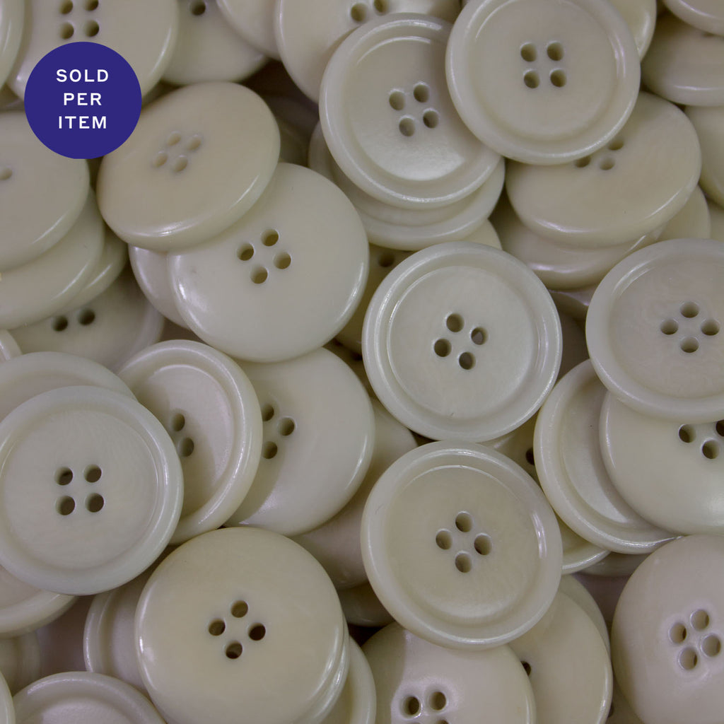 Celest 4-Hole Plastic Button Glossy