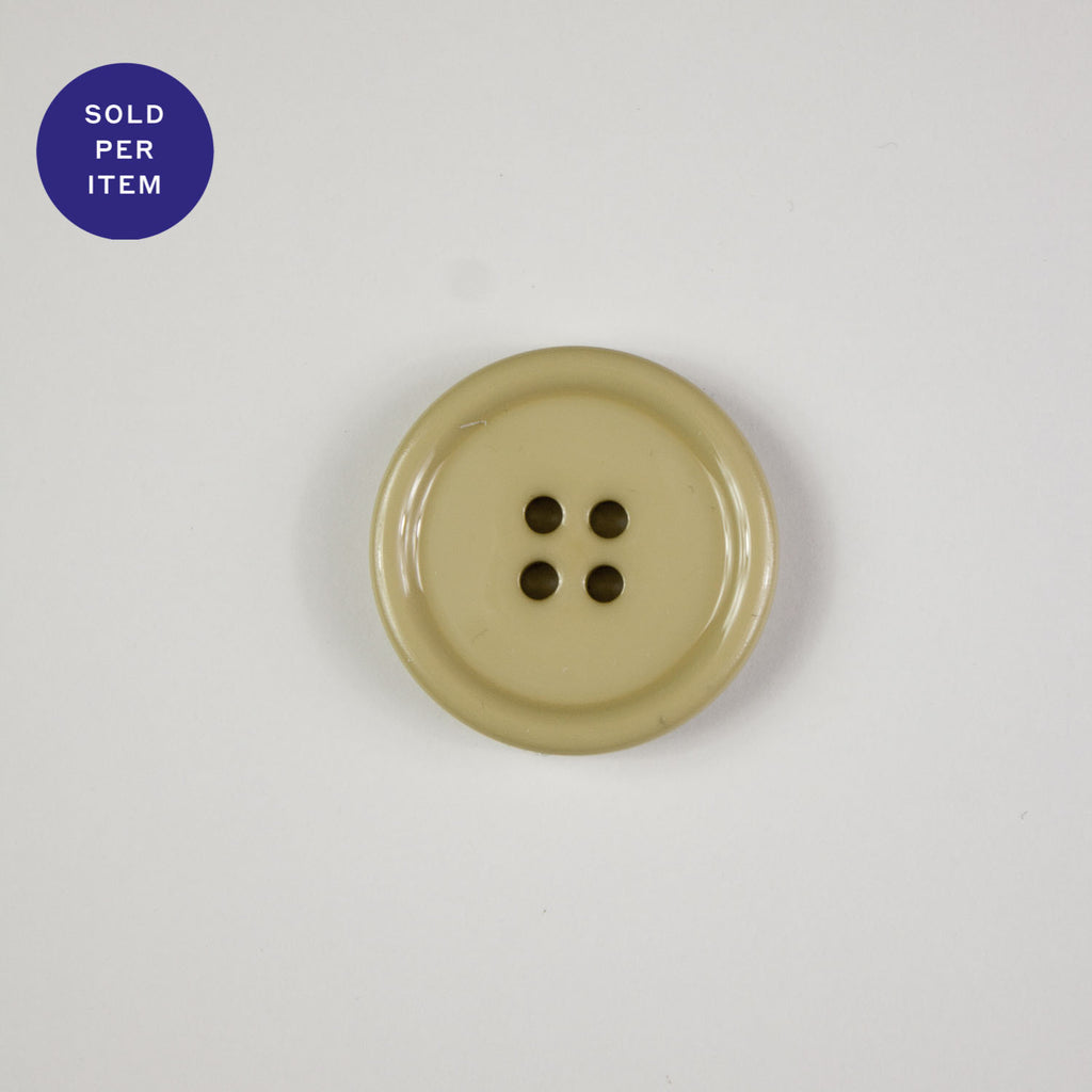 Beige 4-Hole Plastic Button Glossy
