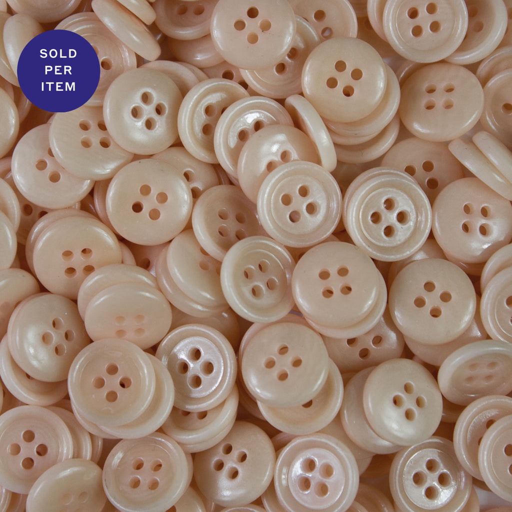 Rosa 4-Hole Plastic Button - 12mm