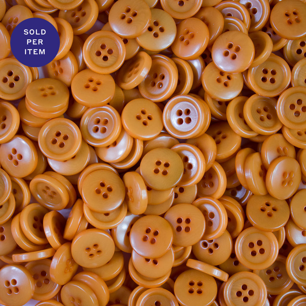 Light Orange 4-Hole Plastic Button
