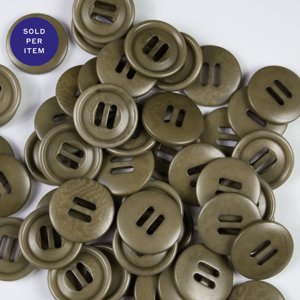 Flax Cement 2-Hole Plastic Button