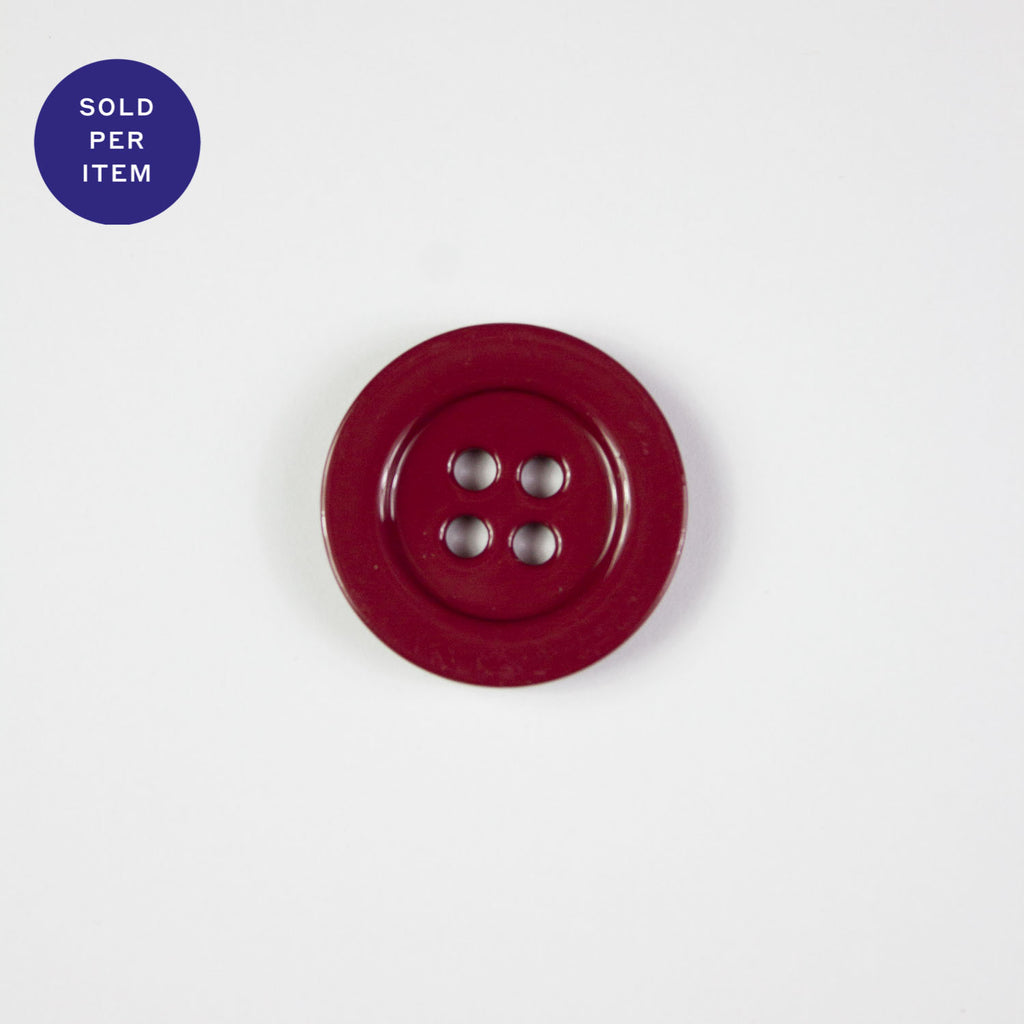 Red 4-Hole Metal Button