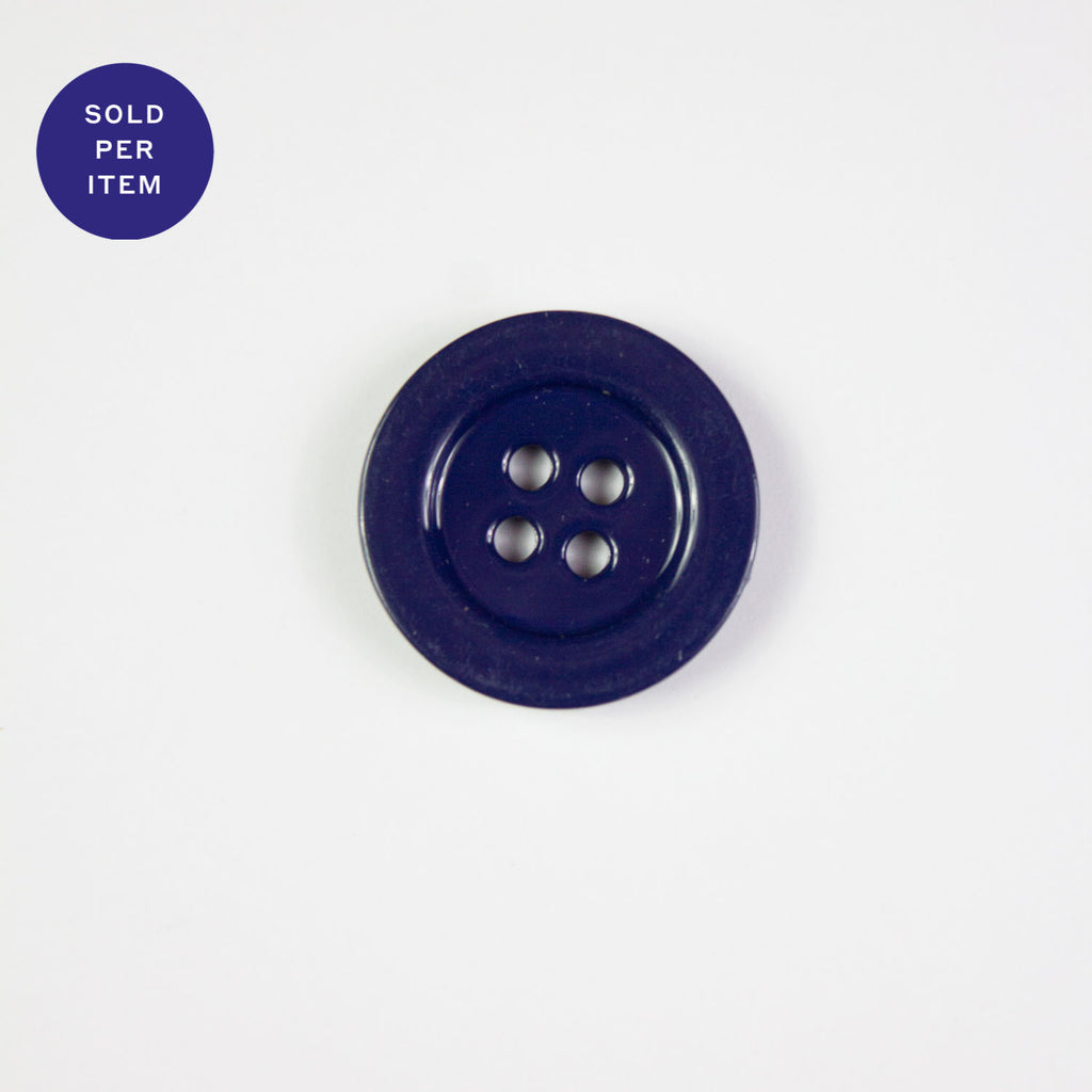 Blue 4-Hole Metal Button