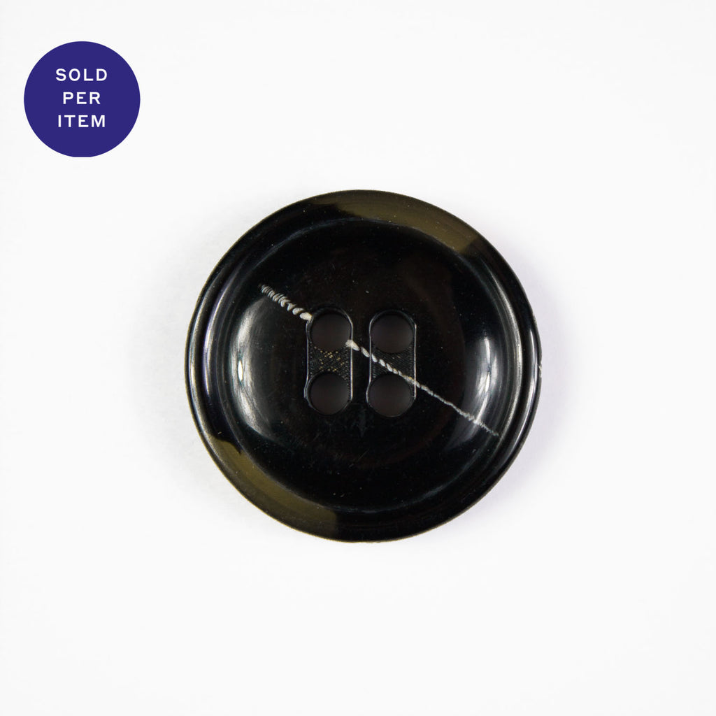 Bailey Black 4-Hole Plastic Button