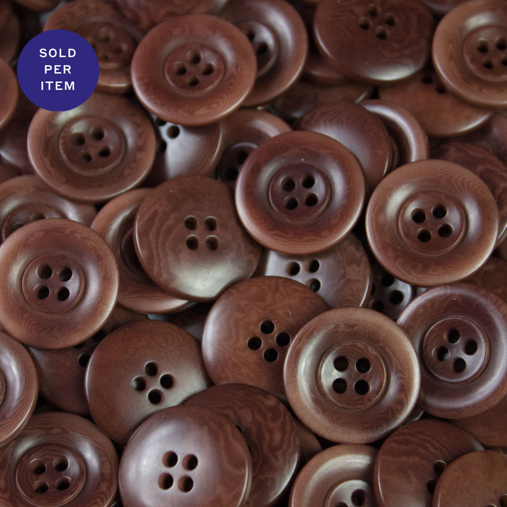 Charles Brown 4-Hole Plastic Button