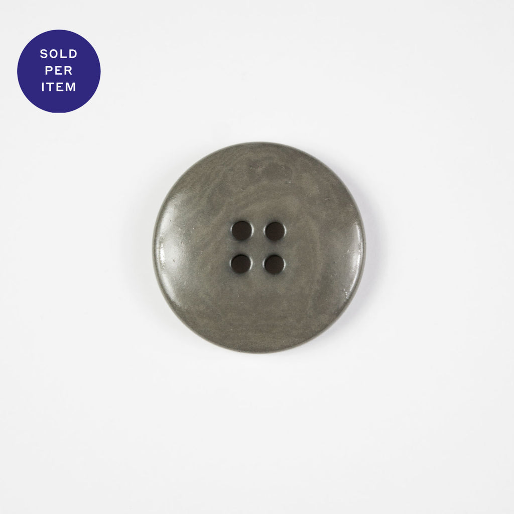 Light Grey 4-Hole Plastic Button