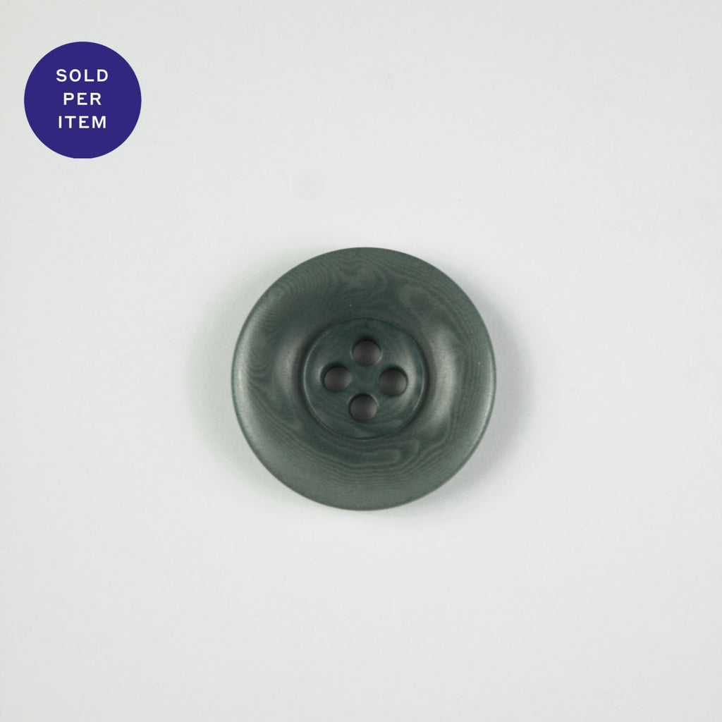 Pierre Forest Green 4-Hole Horn Button