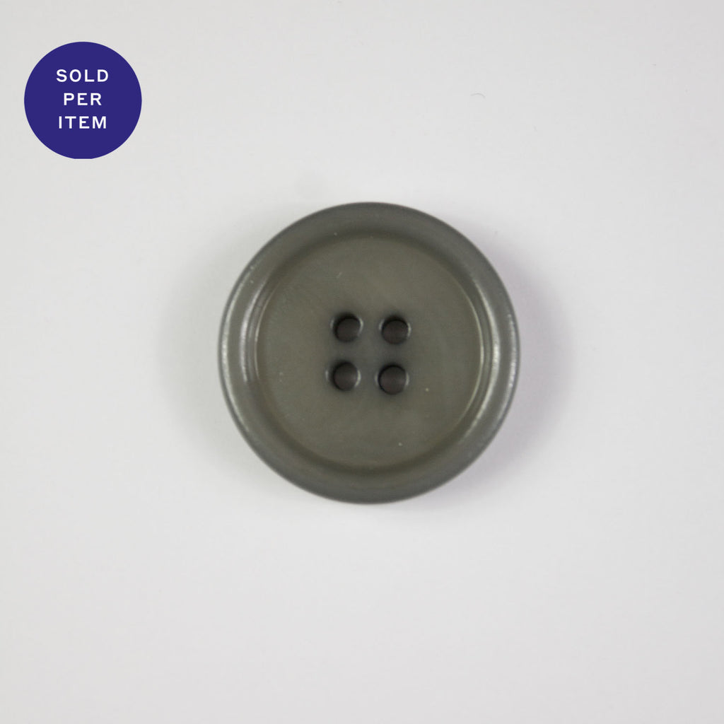 Light Grey 4-Hole Plastic Button Glossy