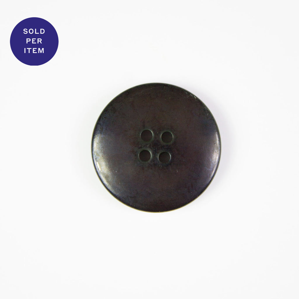 Dark Brown 4-Hole Plastic Button