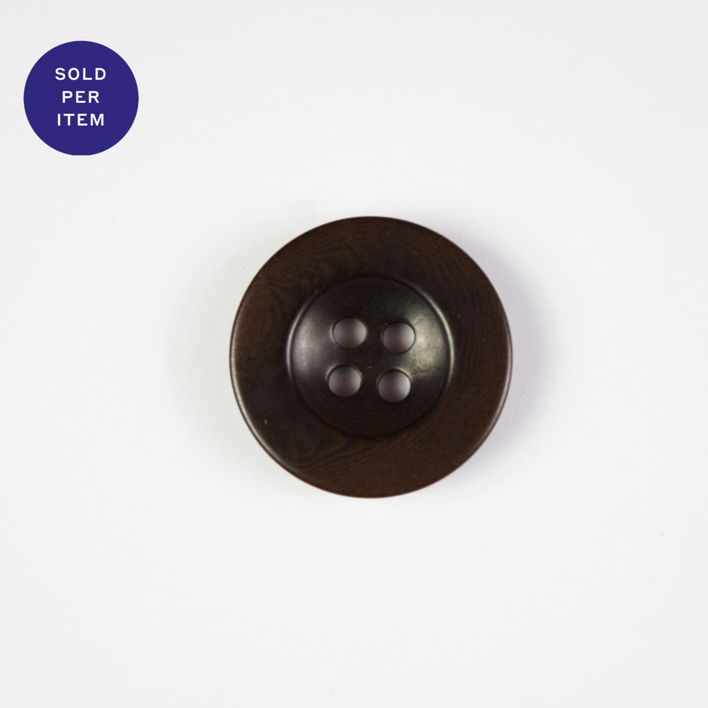 Marron Dark Brown 4-Hole Plastic Button