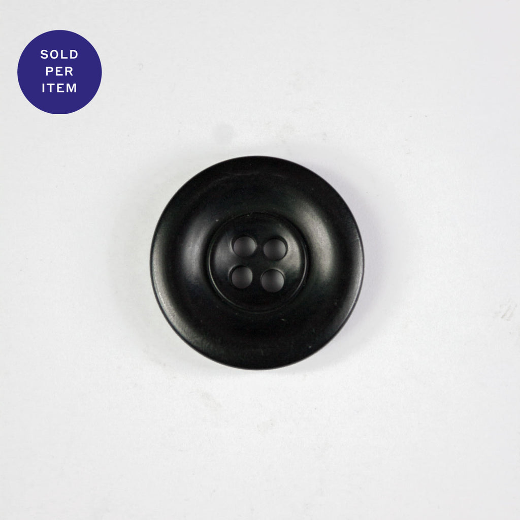 Noa Spider Black 4-Hole Plastic Button