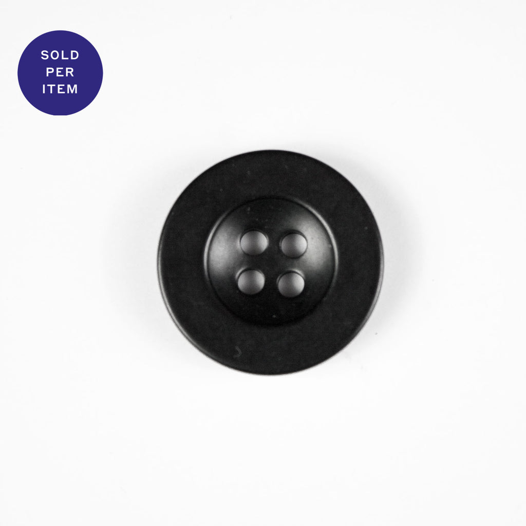 Mila Black 4-Hole Horn Button