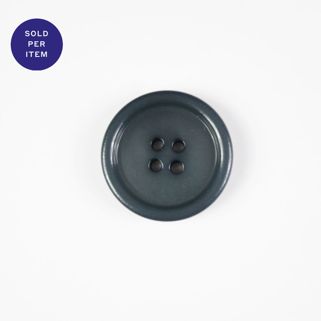 Charcoal 4-Hole Plastic Button