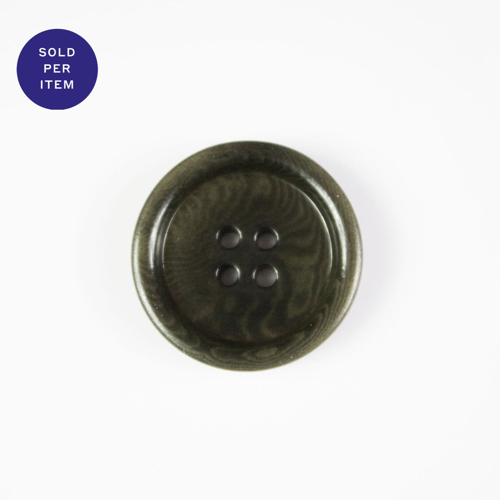 Barack Khaki 4-Hole Plastic Button