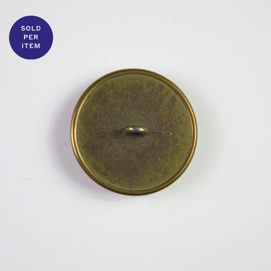 Gold Metal Emblem Button - 27mm