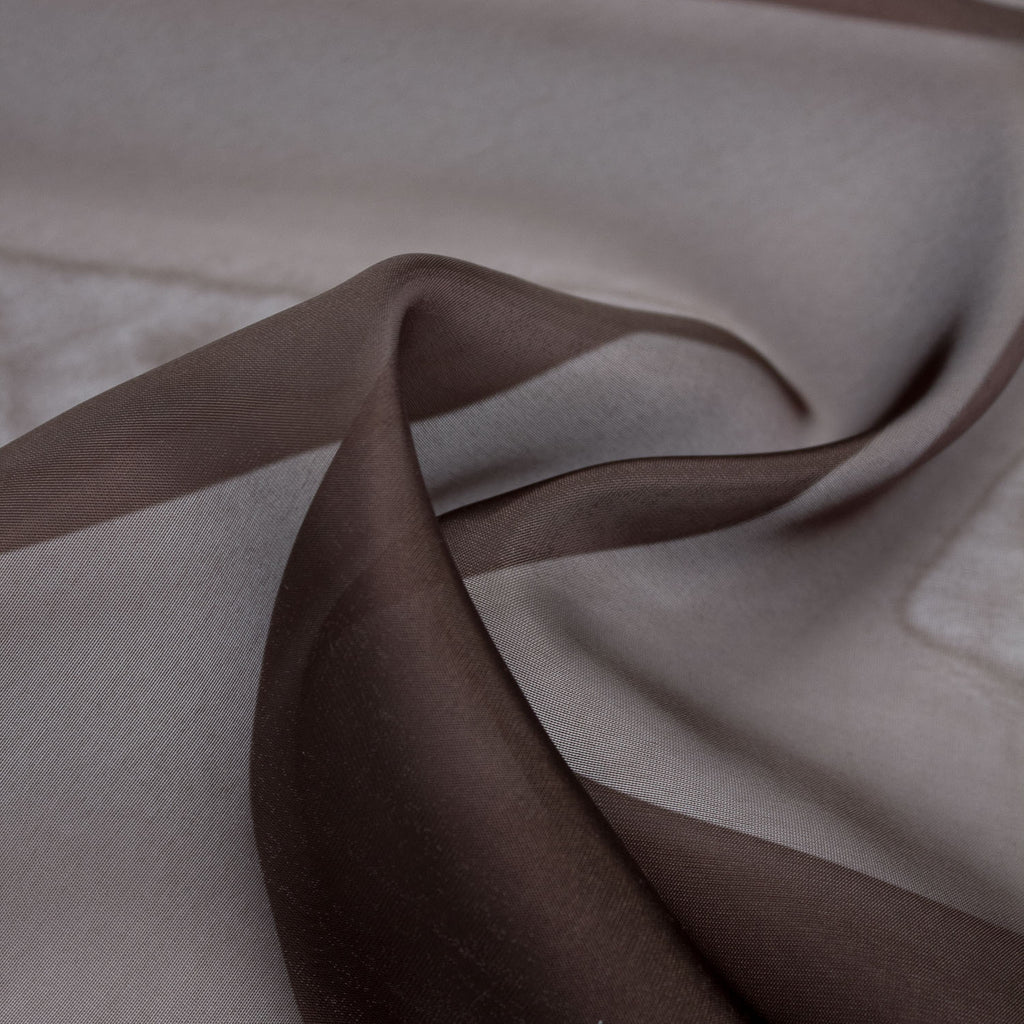 Tatiana Brown Polyester Voile