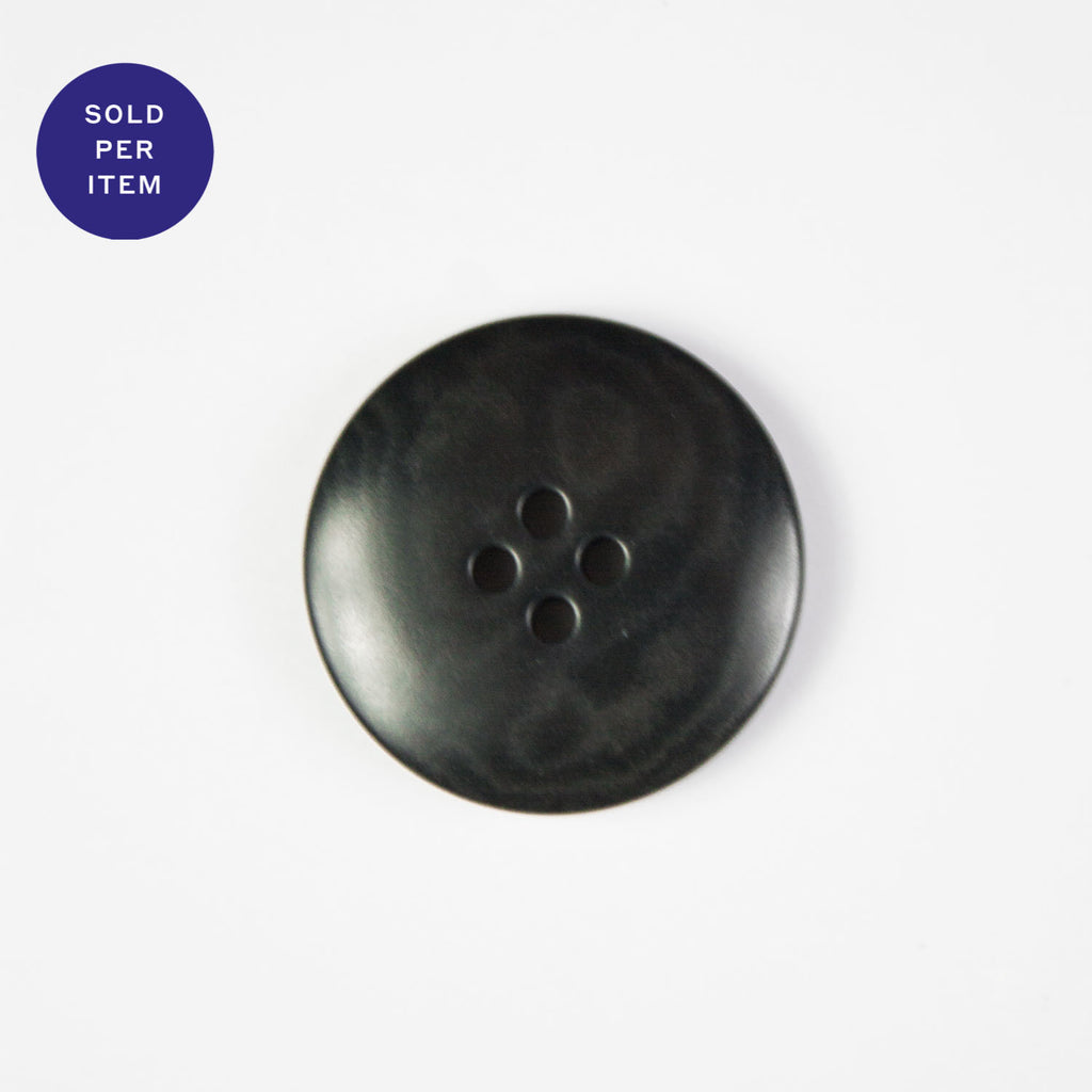Licorice 4-Hole Plastic Button