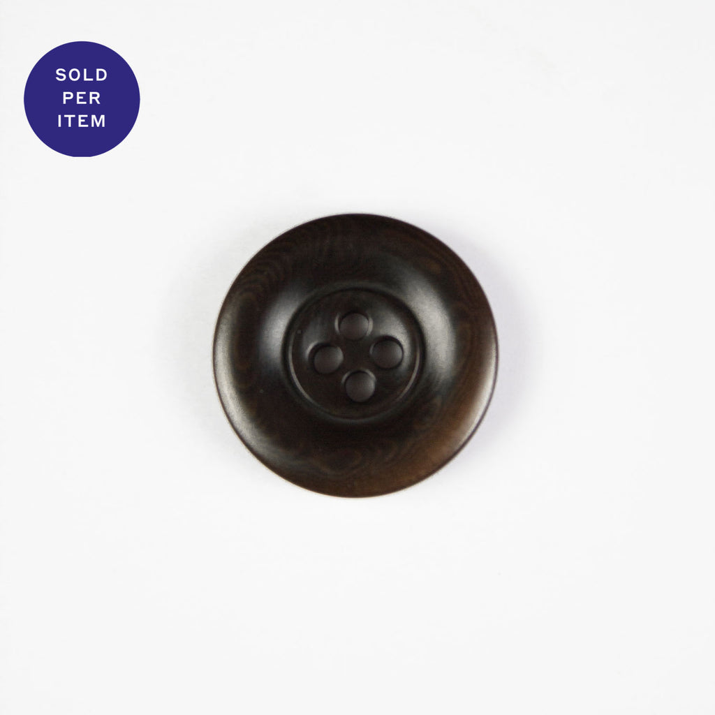 Tomas Marron 4-Hole Plastic Button