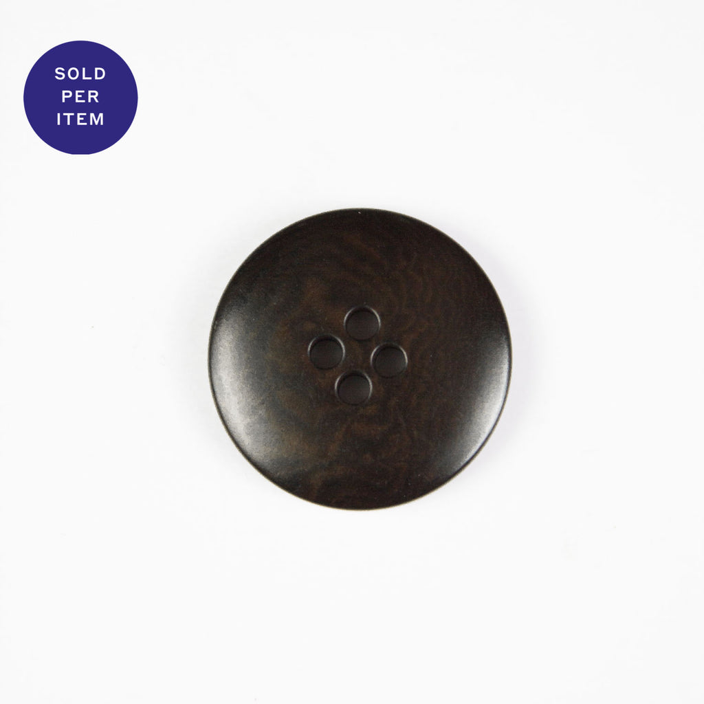 Tomas Brown 4-Hole Plastic Button