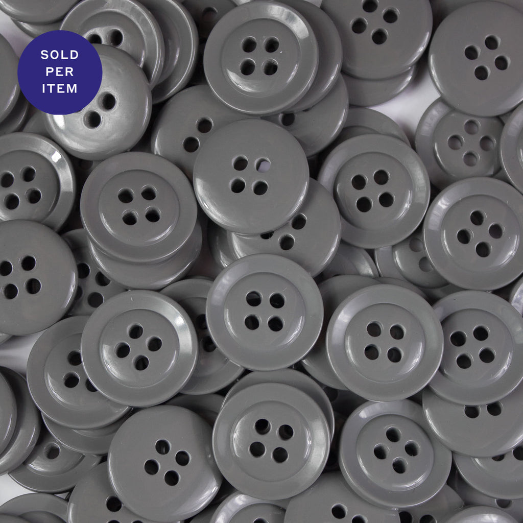 Anchor Grey 4-Hole Plastic Button
