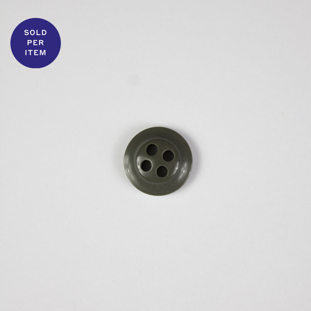 Military Green 4-Hole Plastic Button
