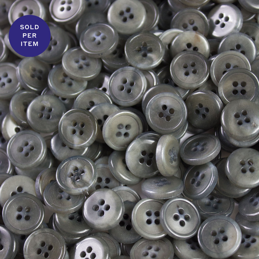 Taupe Grey 4-Hole Plastic Button