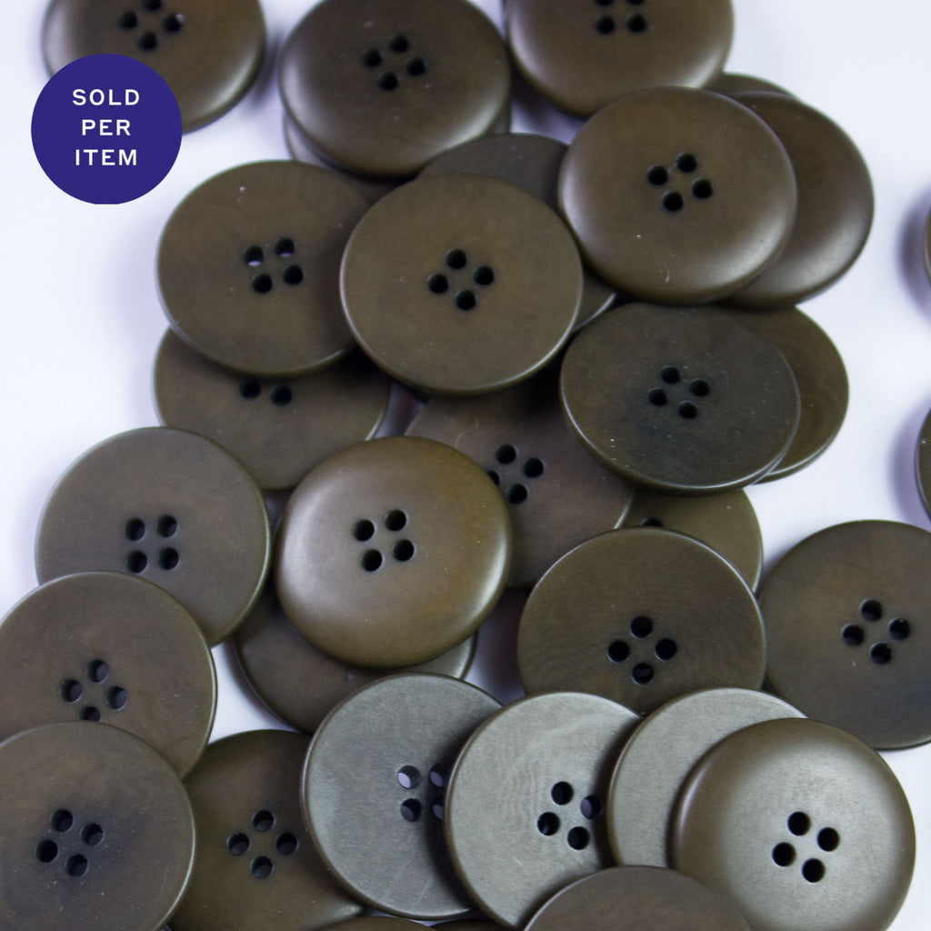 Taupe 4-Hole Plastic Button - 24mm