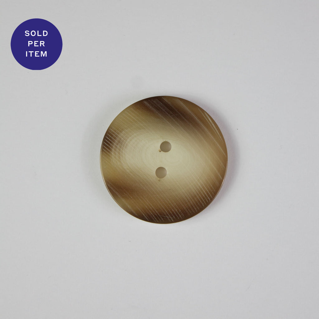 Caramel 2-Hole Horn Button - 26mm