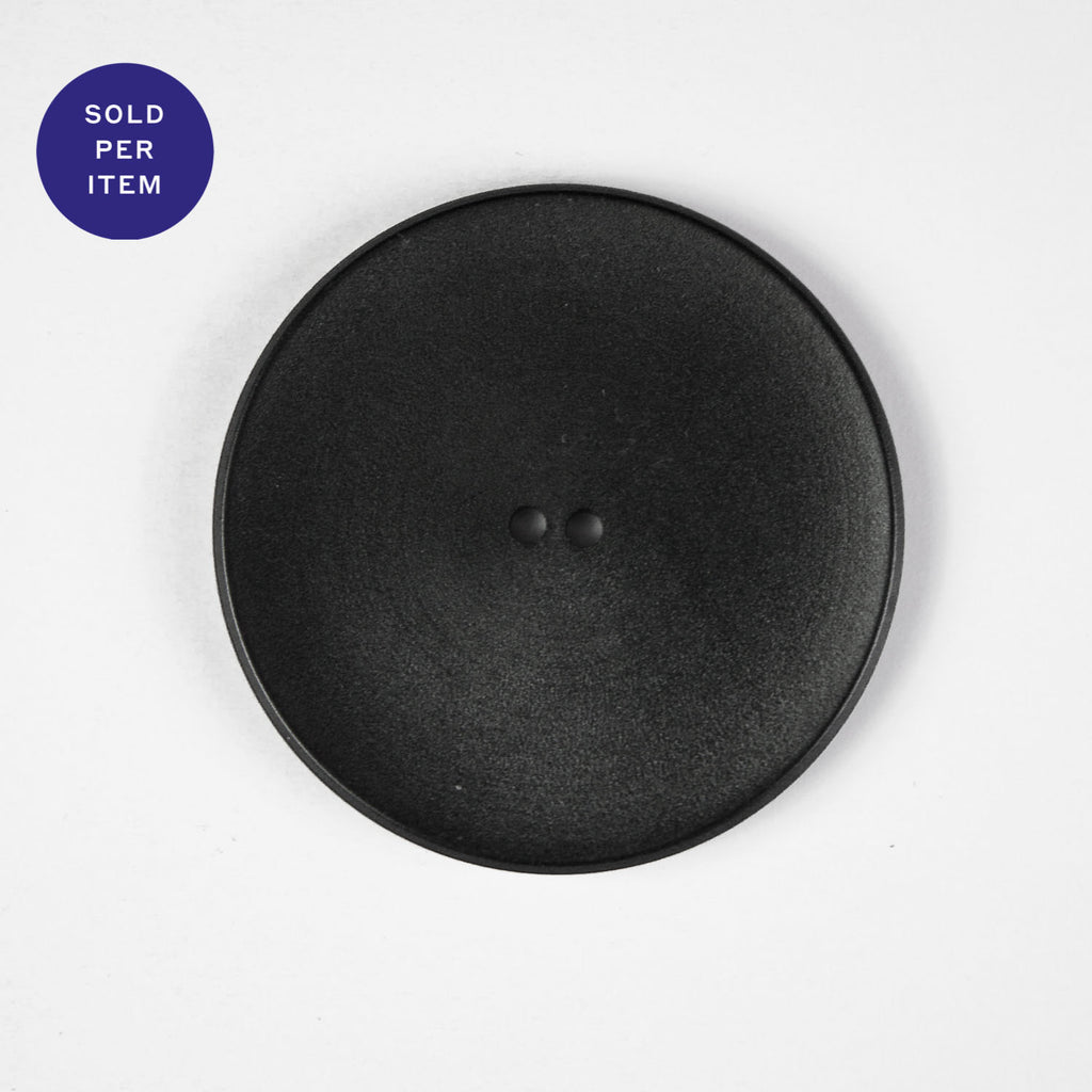 Nora Black 2-Hole Plastic Button