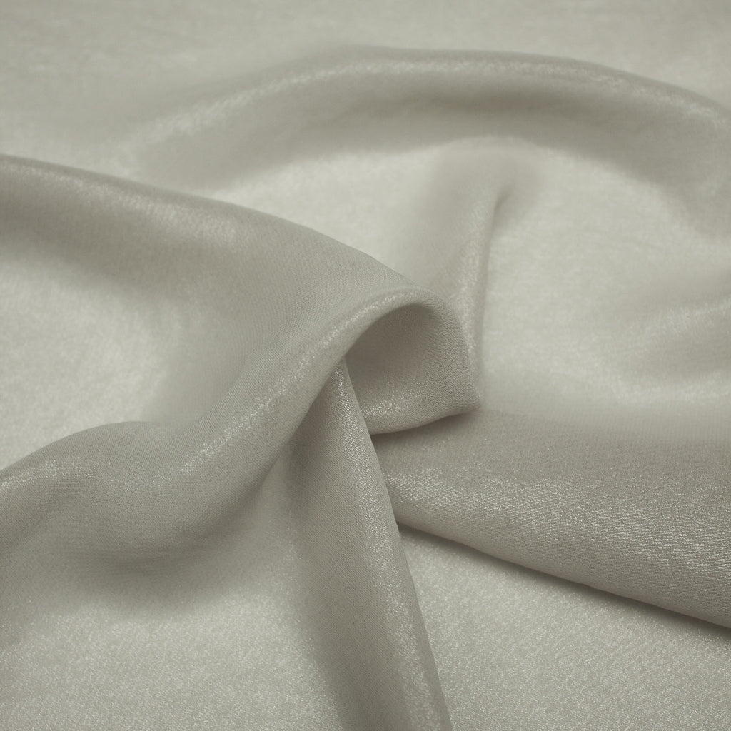 Sajjad Greige Shiny Polyester Voile