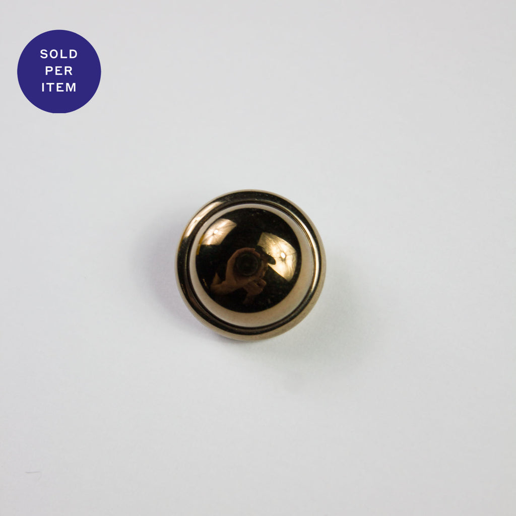 Italian Gold Metal Button - 17mm