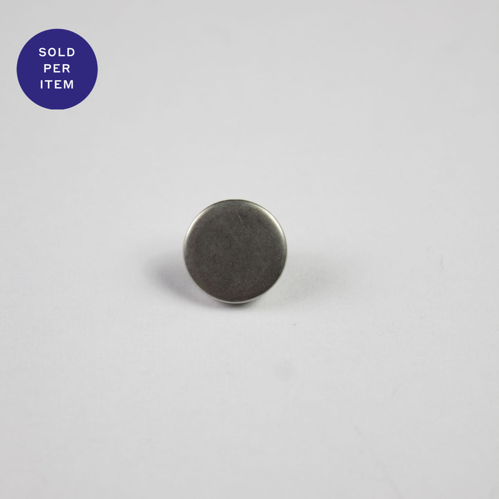 Silver Metal Shank Button - 9mm