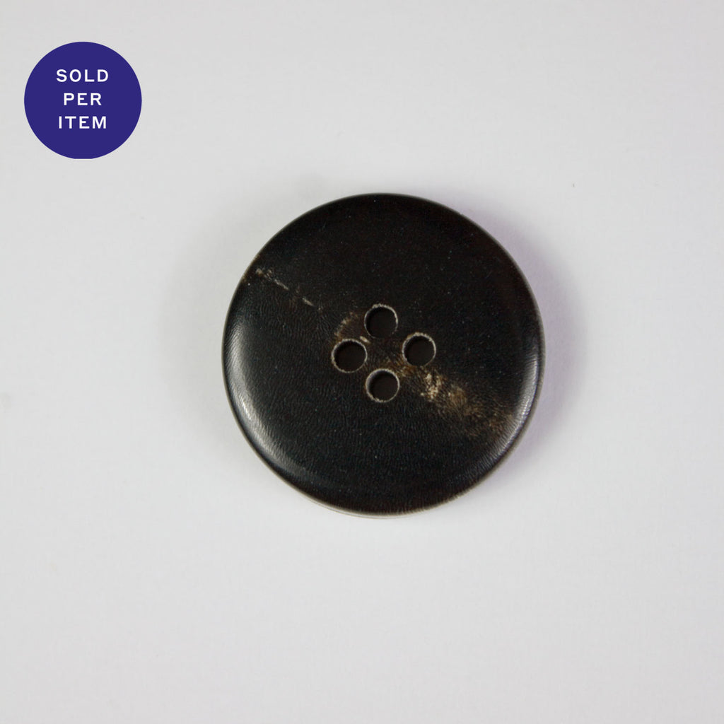 Baird Black and Brown 4-Hole Plastic Button - 22mm