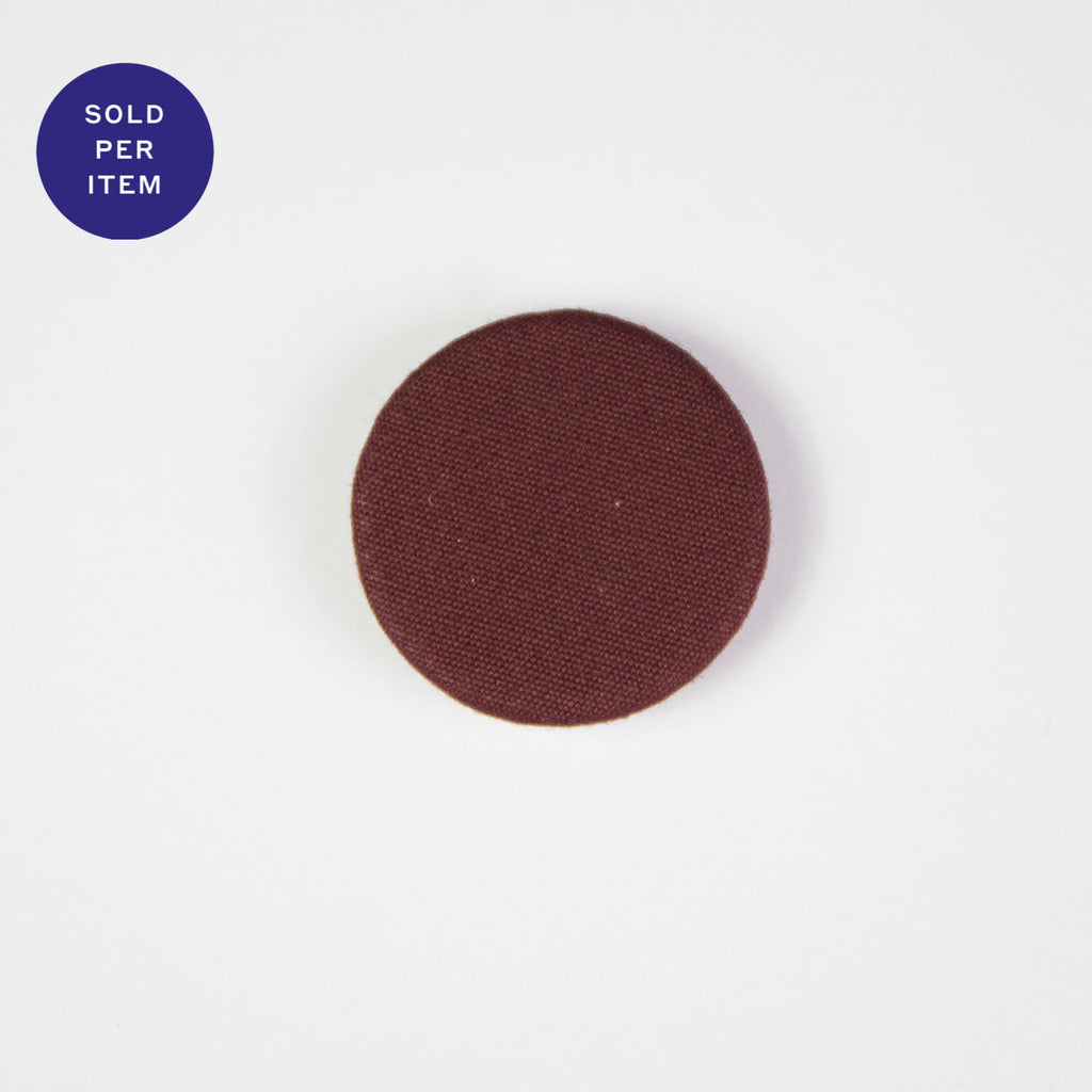 Maroon Fabric Covered Button - 22mm